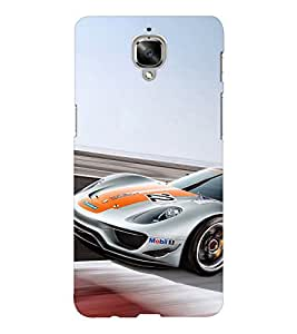 EPICCASE race car Mobile Back Case Cover For OnePlus Three (Designer Case)