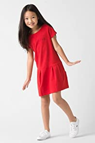 Girl's Short Sleeve Crewneck Sweatshirt Dress