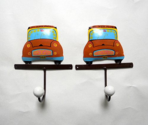 Cratly 2D Truck Design Wall Hanger For Kids Room Made Of Unbreakable Iron - B01BRFA6RI