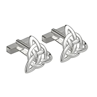 Solvar Trinity Knot Cufflinks Sterling Silver Made in Ireland