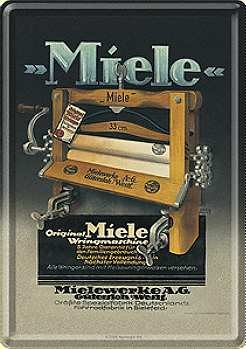 Miele Wringmaschine Blechpostkarte