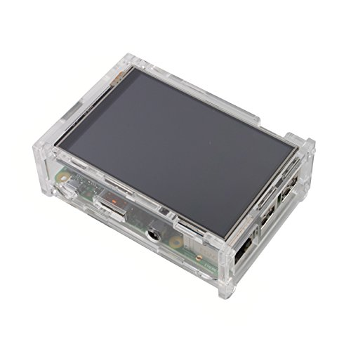 "Jbtek Latest Version 3.5 "" Inch Tft Lcd 480X320 Rgb Pixels Touch Screen Display Monitor For Raspberry Pi With Raspberry Pi Transparent Case Kit B+ Compatible (Comes With B+ Case) [New Model Nov-2014]"