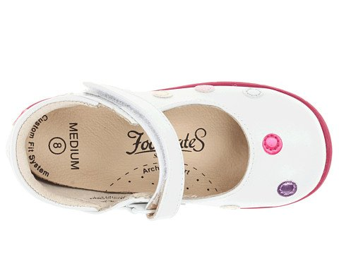Footmates Baby Girl'S Dottie (Infant/Toddler) White/Multi Flat 8 Toddler M/W front-1058032