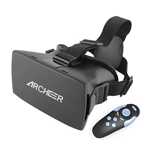 ARCHEER-VR-Headset-Virtual-Reality-3D-Glasses-Helmet-with-Bluetooth-Controller-Adjustable-Head-Band-Strap-for-3D-MoviesGames-Compatible-with-iPhone-Samsung-Moto-LG-Nexus-HTC-47-55-Inch-Smartphones