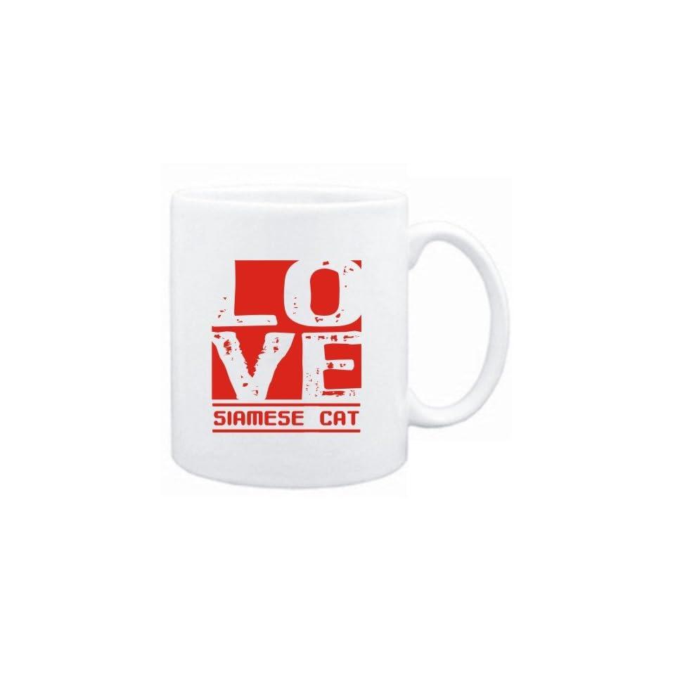 Mug White  LOVE Siamese  Cats