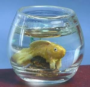Dollhouse fish bowl gold fish toys games for Fish bowl amazon