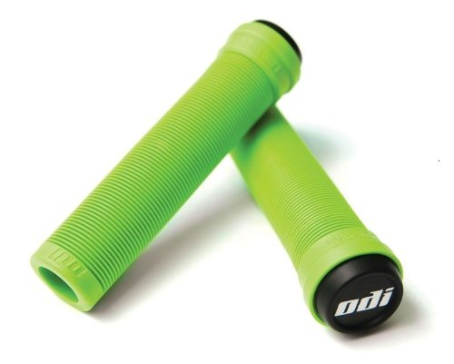 ODI Soft Flangeless Longneck Grips Softies For Bikes And Scooters GREEN (Scooter Handlebar Plugs compare prices)
