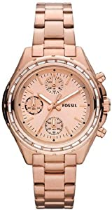 Women Watch Fossil CH2826 Chronograph Rose Gold Tone Stainless Steel Case and B