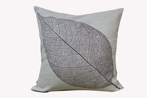 "Touch Classic Novelty Vintage Decorative Cushion Cover Vintage European Style Tree Leaf Design Pillow Cover 18"" X 18"" front-365274"