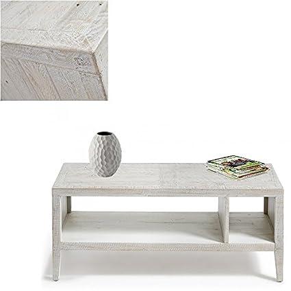 Mesa de centro fabricada con madera de pino Acabado envejecido, seleccion Cabana