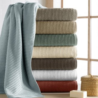 Turkishtowels Urbane Collection 6 Piece Towel Set (2 Bath, 2 Hand, 2 Wash), Graphite