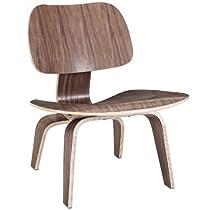 Hot Sale LexMod Fathom Plywood Lounge Chair in Walnut