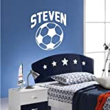 Wall Sticker Personalised Name Football Sport Boys