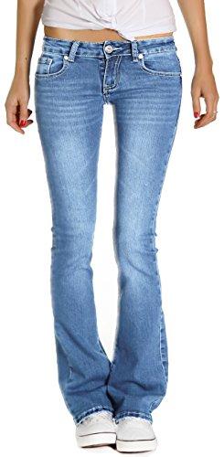 Bestyledberlin Jeans Donna, Bootcutjeans j196p XL