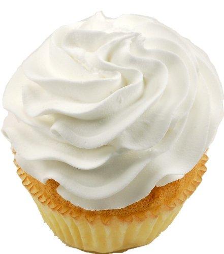 White Plain Fake Cupcake 3 Pack Fake Food (Display Fake Cupcakes compare prices)