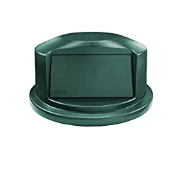 Rubbermaid Commercial Products 1834838 BRUTE Heavy-Duty Round Waste/Utility Container, 44 gal Dome Lid, Green
