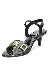 Lamere Womens Fashion Kitten Heel Sandal (LA-397Black)
