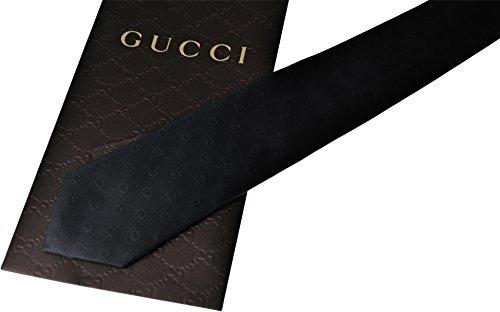 GUCCI 【グッチ】 ネクタイ GGロゴモノグラム柄 ブラック 190705 4B002 1000