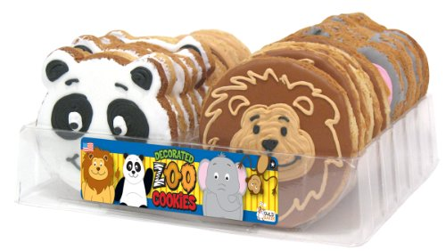 Wild Baker Zoo Animal Decorated Cookies Tray