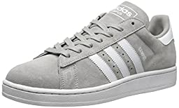 adidas Originals Men\'s Campus 2 Lifestyle Basketball Sneaker, Solid Grey/Running White/Solid Grey, 9.5 M US
