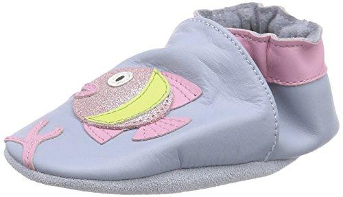Robeez Luna Pesce, nascita Scarpe da bambina, Blu (Blue (Cloud Blue 5)), 0-6 Mesi Bambino UK