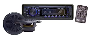 Pyle PLMRKT13BK In-Dash Marine AM FM PLL Tuning Radio with USB SD MMC Reader by Pyle