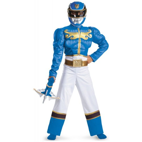 Kid's Blue Ranger Megaforce Classic Muscle Costume L