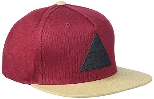 Neff -  Cappellino da baseball  - Uomo maroon/twill taglia unica
