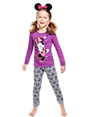 Pure Cotton Minnie Mouse Pyjamas with Headband