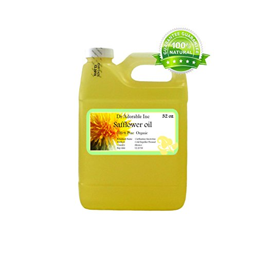 Safflower OIL High Oleic Organic 100% Pure 32 Oz / 1 Quart