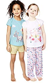 2 Pack Pure Cotton Assorted Pyjamas