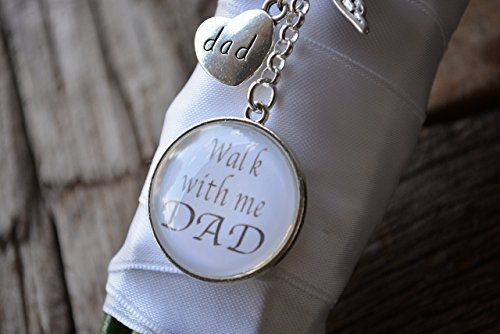 Bridal Bouquet Memory Charm, Wedding Bouquet Pendant, Walk With Me Dad Bouquet Photo Charm