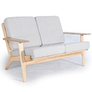5 Kardiel Hans J Wegner Style Plank Loveseat Khaki