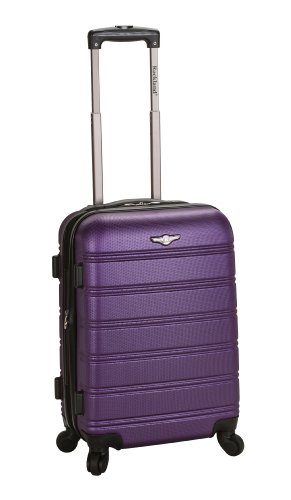 Rockland Luggage Melbourne 20 Inch Expandable Carry On, Purple, One Size image