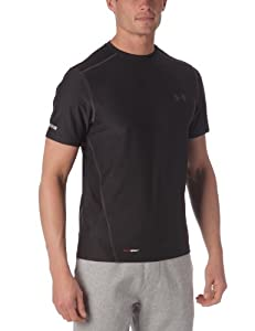 Under Armour   Hg Fitted Base SS Crew T-shirt manches courtes homme Noir XXL
