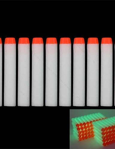 ANDP 100 pcs 7.2cm Glow in Dark Refill Bullet Darts for Nerf N-strike Elite Series Blasters Kid Toy (Glow In The Dark Toy Parachute)