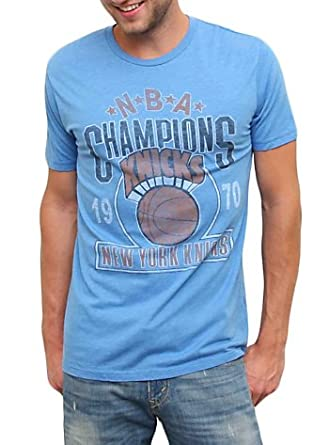 Junk Food New York Knicks 1970 NBA Champions Blueberry Blue Mens T-shirt by Junk Food