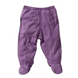 Babysoy Baby Girls\' Footie Pants - Eggplant - 0-3 Months