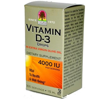 Nature'S Answer Liquid Vitamin D-3 4000Iu 4X .5 Oz