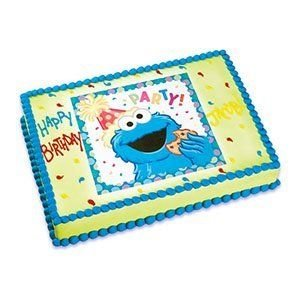 1/4 Sheet ~ Sesame Street's Cookie Monster ~ Edible Image Cake/Cupcake Topper!!!