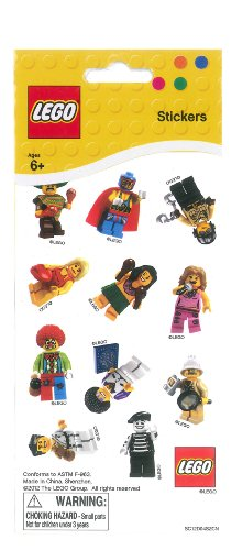 West Designs LEGO Minifigure Stickers