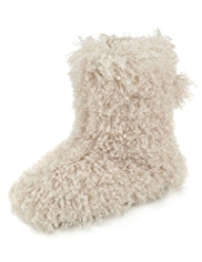 Per Una Faux Fur Boot Slippers