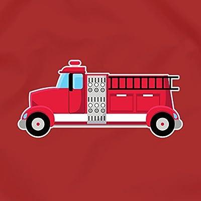Turnbeutel Feuerwehrauto Feuerwehr Sportbeutel für Schule Sport Sporttasche Bag Base® BG10 Gymsac 8 Farben 45 x 34 cm