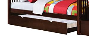 Acme 37024 Alem Trundle for Twin/Twin Bunk Bed with Storage Ladder, Espresso Finish