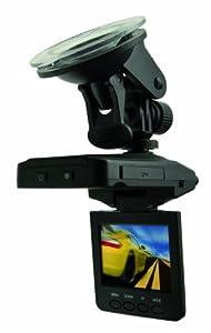 Praktica CDV 1.0 Auto-Videokamera (1 Megapixel , 6,1 cm (2,5 Zoll) TFT-Farbmonitor) mit KFZ-Adapter