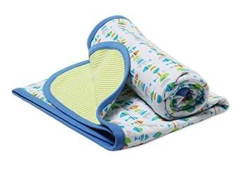 Zutano Unisex-baby Infant Fishies Blanket, White, One Size