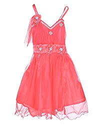 D.S. Fashion Girls Frock (Raspberry, 28)