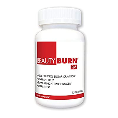 BeautyFit BeautyBurn PM, Evening Appetite & Sugar Suppressant For Women, 120 capsules