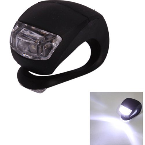Niceeshop(Tm) Innovative Black Waterproof Silicone Wrap-Around Rear Bicycle Light/Flashlight With 2 Led(White Light)