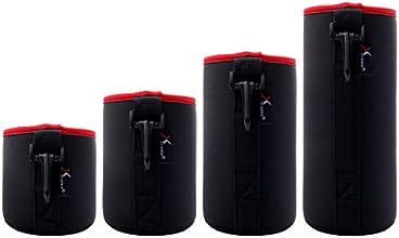 XCSOURCE® 4x 5mm Thick DSLR camera Drawstring Soft Neoprene Lens Pouch Bag Cover for Sony Canon Nikon Pentax Olympus Panasonic(S+M+L+XL) DC506